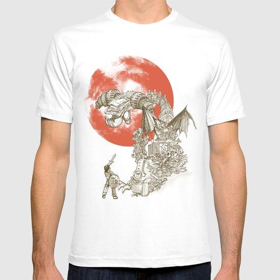 Junkyard Dragon (monochrome version) T-shirt