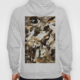 But first coffee | abstract brown acrylic original painting brushstrokes Hoody