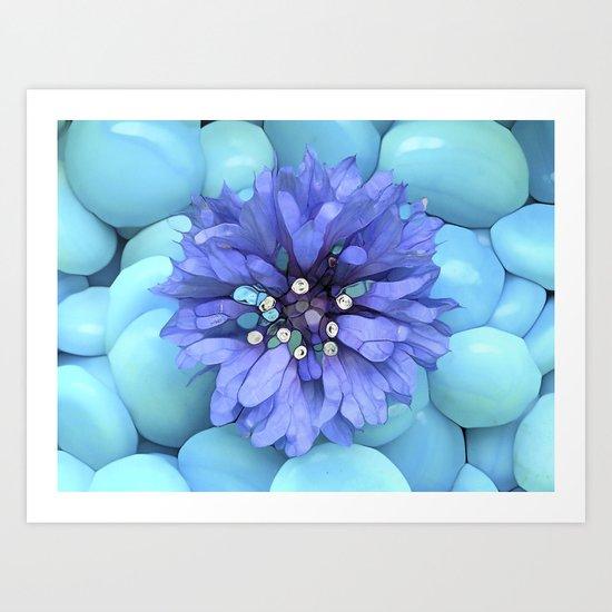 Eco-Abstract Blue Art Print