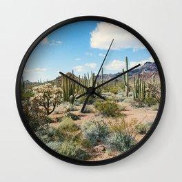 Desert Plant Growth Wall Clock