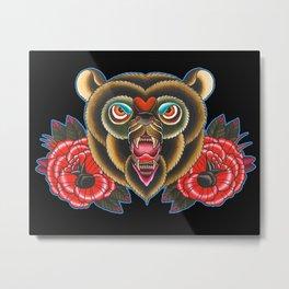 Bear of roses Metal Print