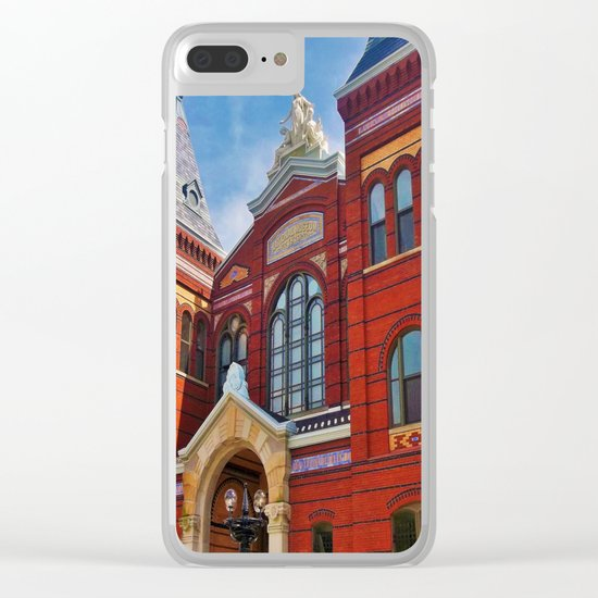 Washington DC Red Brick Clear iPhone Case