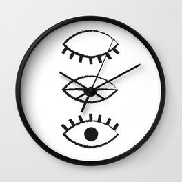 Eyelid Wall Clock