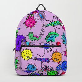Bacteria Background Backpack