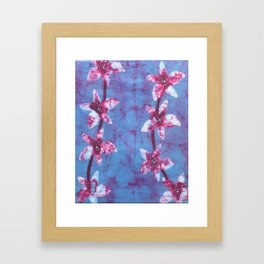 Orchid flowers in Blue and Purple Framed Art Print