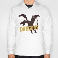 dungeons and dragons Hoodies featuring Dragons by WEAREYAWN