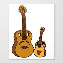 Uke I Am Your Father Ukulele Noo Guitar Musician Canvas Print