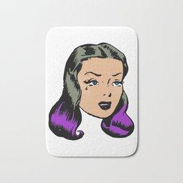 Purple Hair Pin-Up Bath Mat
