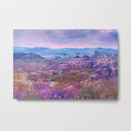 Life Valley California Desert Blooming Fantasy Metal Print