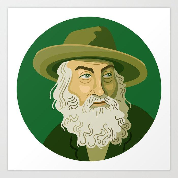 Queer Portrait - Walt Whitman Art Print