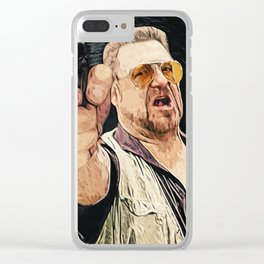 Walter Sobchak Clear iPhone Case