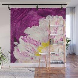 Peony and Purple Wall Mural