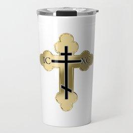 Christian orthodox cross Travel Mug