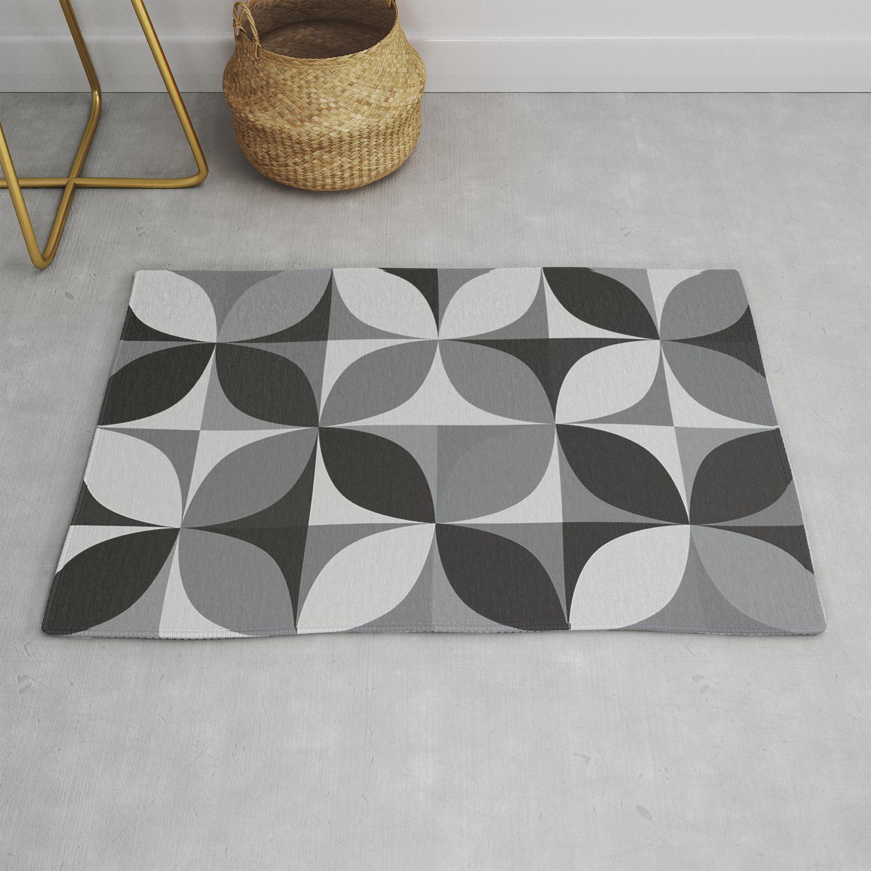 Retro Pattern Geometric Rug By Jsebouvi