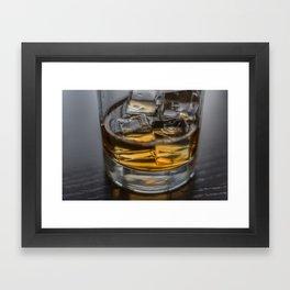 Scotch on the Rocks Framed Art Print