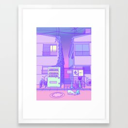 Pastel Tokyo Cats Framed Art Print