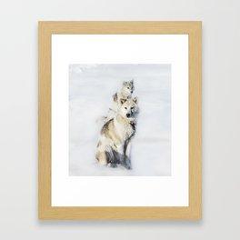 Greenland Sled Dogs Framed Art Print