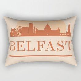 BELFAST NORTHERN IRELAND CITY SKYLINE EARTH TONES Rectangular Pillow
