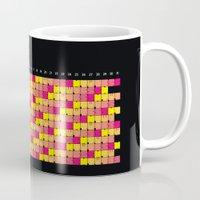 calendar Mugs featuring Typographical Calendar 2016 by rekord