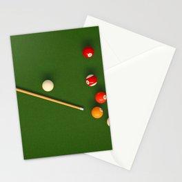 Pool Table Stationery Cards