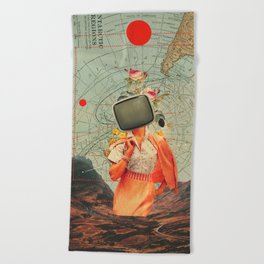 Antarctic Broadcast Beach Towel