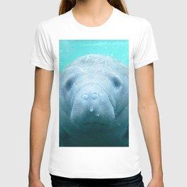 Watercolor Manatee 01, Three Sisters Spring, Crystal River, Florida T-shirt