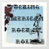 rock n roll Art Prints featuring Rock N Roll by Ericjsanchez
