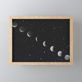 Phases of the Moon Framed Mini Art Print