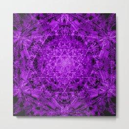 David star mandala-Maguen David-energetic shield-hand painted Metal Print