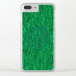 Zelda Green Art Triforce Clear iPhone Case