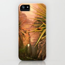 Tropical Grave iPhone Case