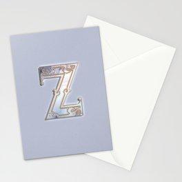 Z letter monogram Stationery Cards