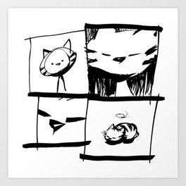 minima - IA - catnap Art Print