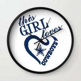 This girl loves cowboys Wall Clock