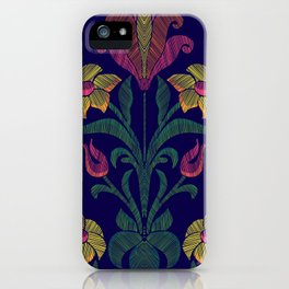 Flowers embroidery iPhone Case