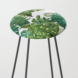 A Pattern of Plants Counter Stool