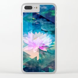 Abstract Lotus Clear iPhone Case