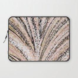 Rose Gold and Glitter Brushstroke Bursts Laptop Sleeve