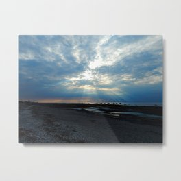 Sunrays and the Beach Metal Print