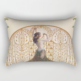 Ornate Art Deco Rectangular Pillow