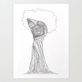 creature tree Art Print