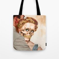 ginger Tote Bags featuring GINGER by Julia Lillard Art