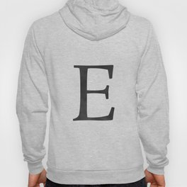 Letter E Initial Monogram Black and White Hoody