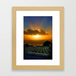 Cabrillo National Cemetery at Sunset Framed Art Print