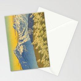 Kawase Hasui Japanese Woodblock Print Shin-hanga Ukiyo-e Landscape, Mountain  1946-1957 Stationery Cards