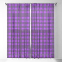 Purple plaid Sheer Curtain