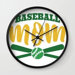 Baseball Mom Wall Clock