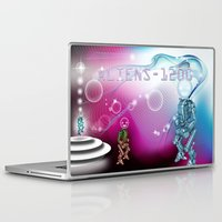 aliens Laptop & iPad Skins featuring aliens by amanvel