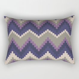 Jagged Violet Rectangular Pillow