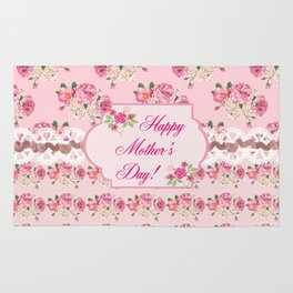 Happy Mothers Day Roses Rug